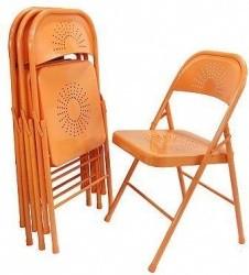 Samu0027s Club Decorative Metal Folding Chair By Shin Crest